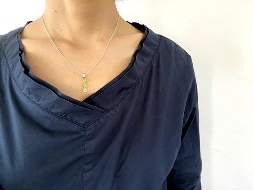 画像2: SILVER925 peridot necklace