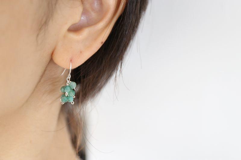 画像3: SILVER925 emerald pierce