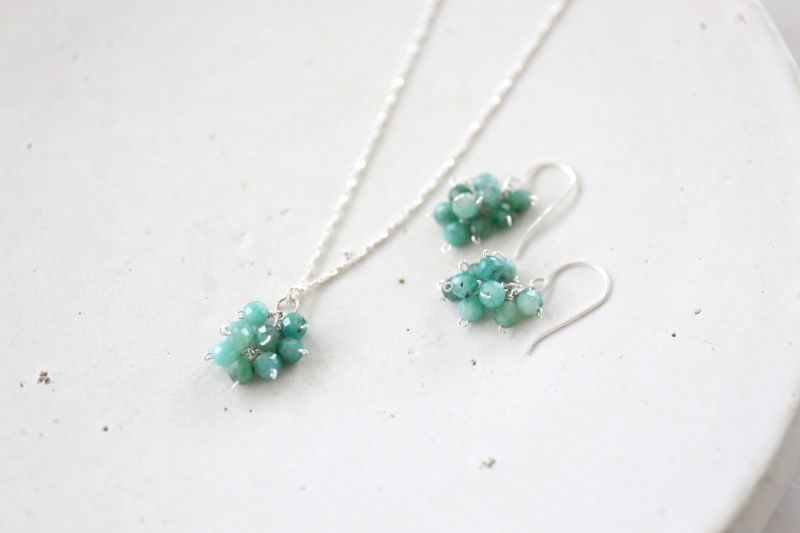 画像2: SILVER925 emerald necklace