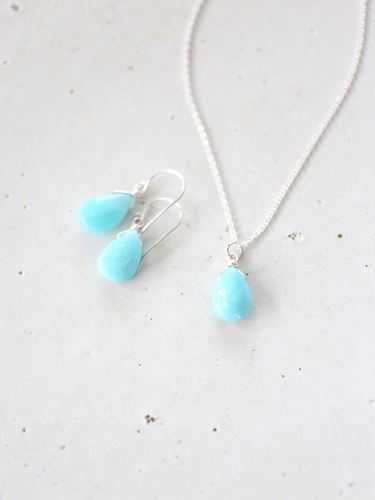 画像2: SILVER925 amazonite necklace