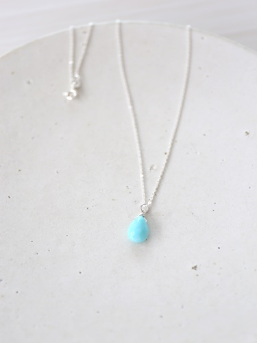 画像1: SILVER925 amazonite necklace