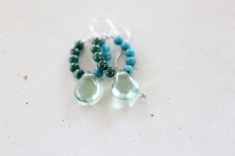 画像2: SILVER925 turquoise malachite pierce