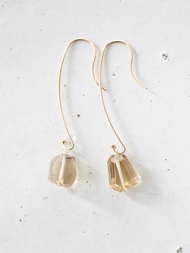 画像2: 14KGF  champane quartz pearl pierce