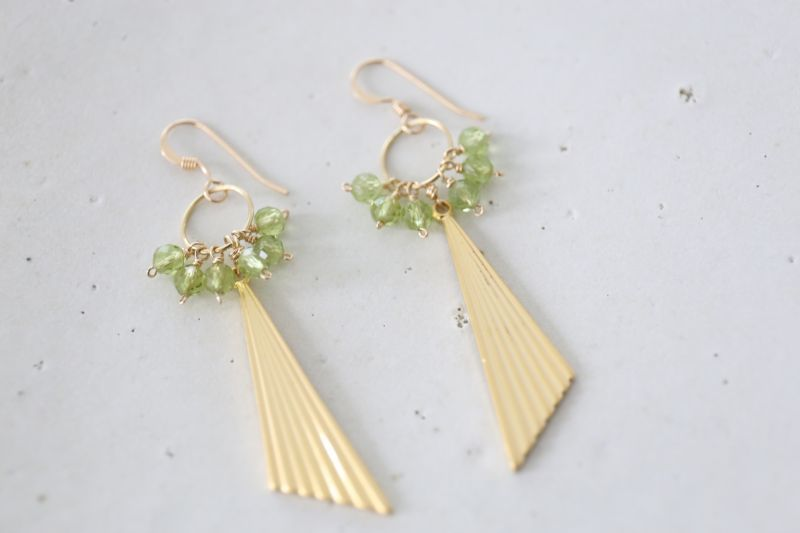 画像2: 14KGF  peridot pierce