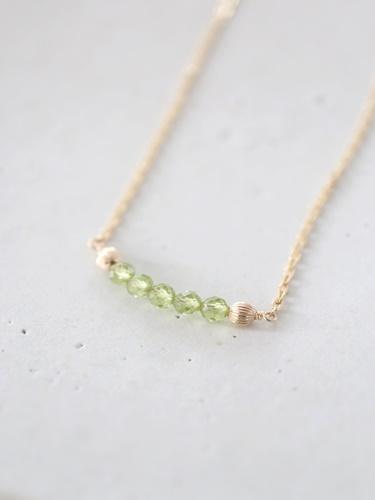 画像1: 14KGF  peridot necklace