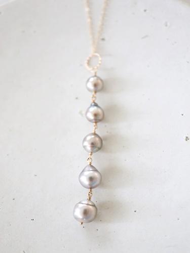 画像1: 14KGF  South Sea Pearl5連 necklace