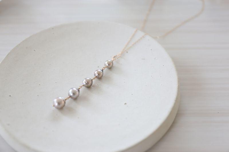 画像4: 14KGF  South Sea Pearl5連 necklace