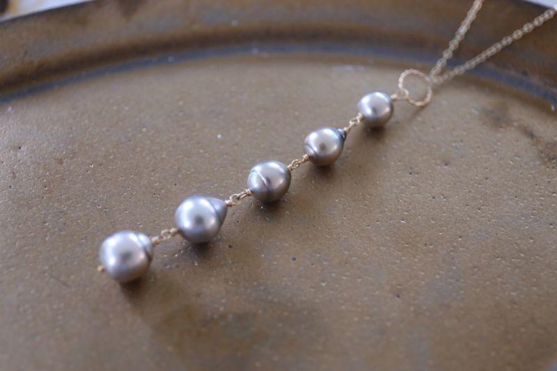 画像3: 14KGF  South Sea Pearl5連 necklace