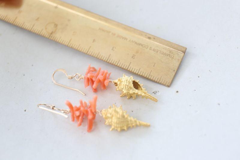 画像3: 14KGF coral pierce