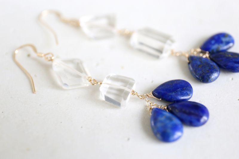 画像3: 14KGF  lapis lazuli crystal pierce
