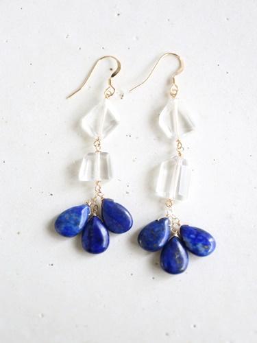 画像1: 14KGF  lapis lazuli crystal pierce