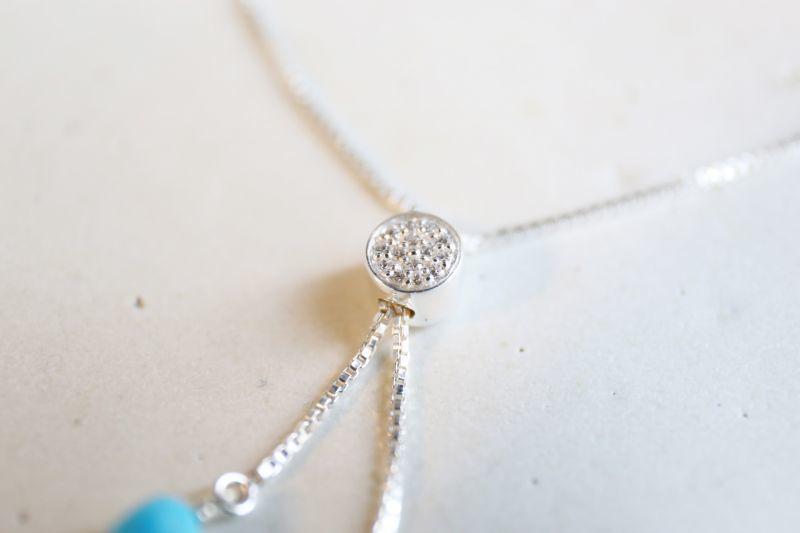 画像3: SILVER925  Sleeping Beauty Turquoise bracelet
