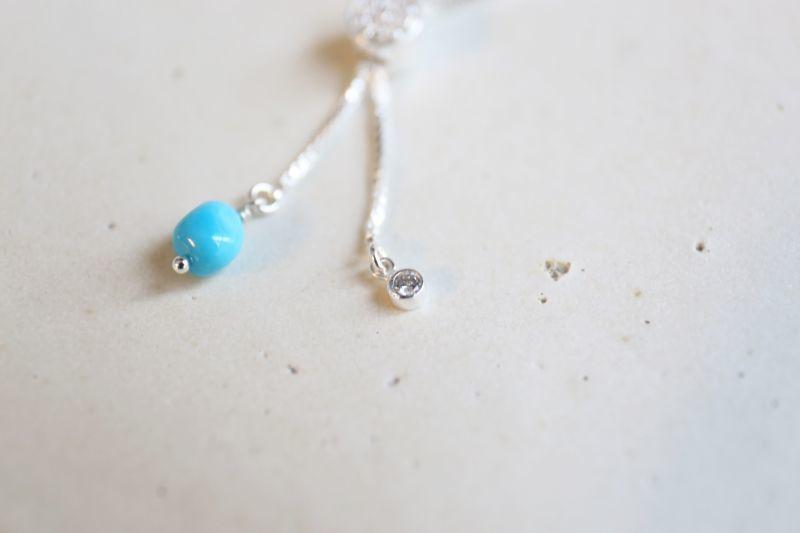 画像2: SILVER925  Sleeping Beauty Turquoise bracelet