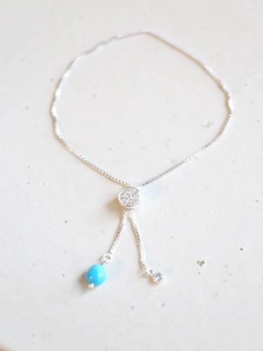 画像1: SILVER925  Sleeping Beauty Turquoise bracelet