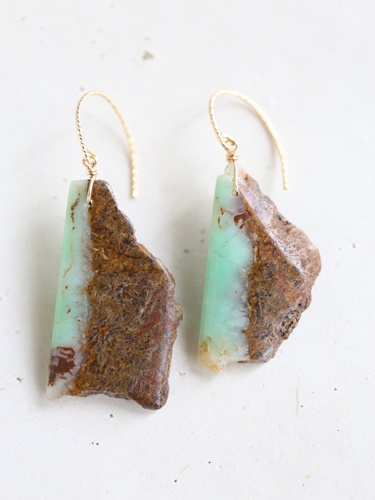 画像1: 14KGF  chrysoprase pierce