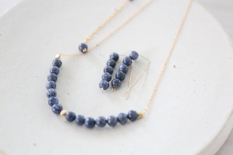画像3: 14KGF  blue coral necklace