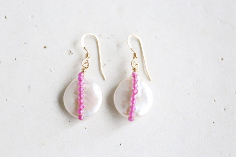 画像4: 14KGF  rubyquart pearl pierce
