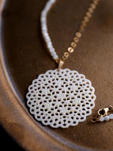 画像1: 14KGF   shell necklace