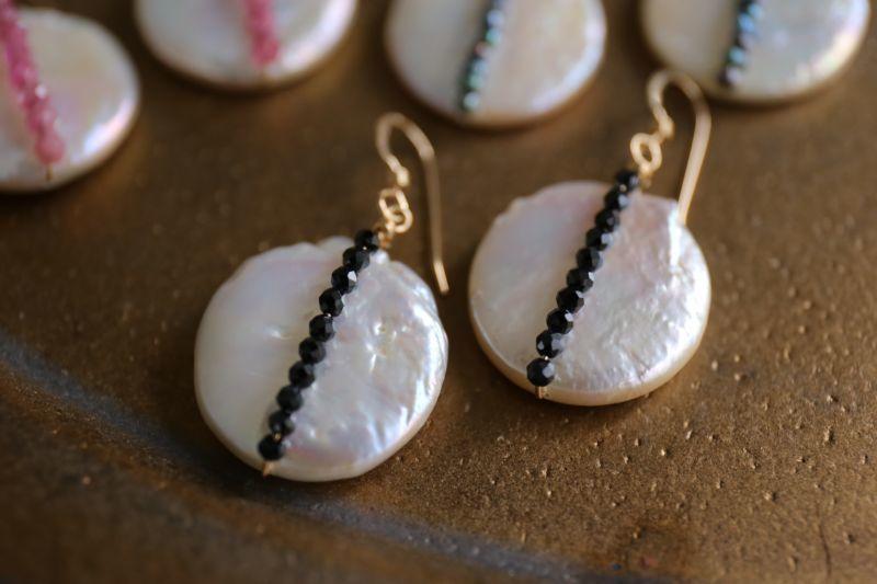 画像3: 14KGF  black spinel pearl pierce
