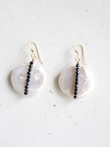 画像2: 14KGF  black spinel pearl pierce