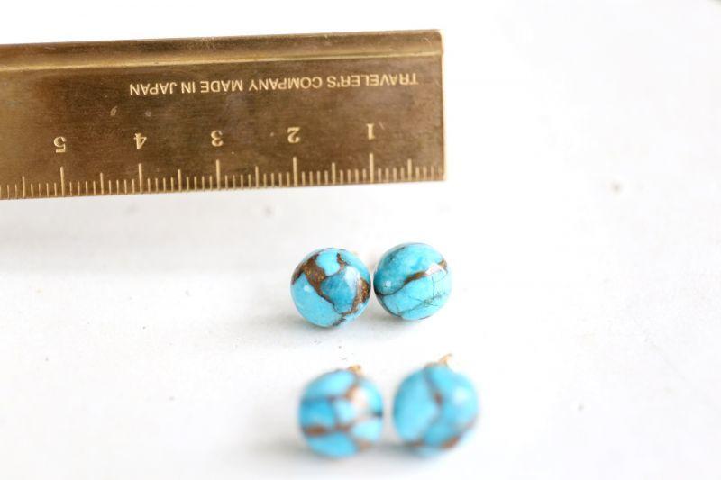 画像3: 14KGF  copperturquoise pierce