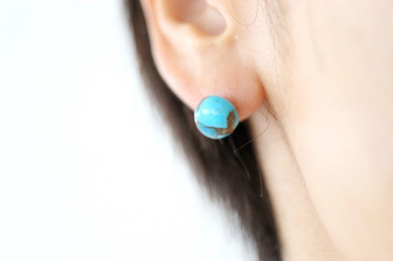 画像4: 14KGF  copperturquoise pierce
