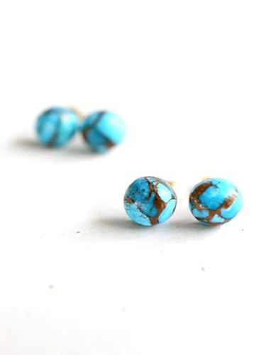 画像1: 14KGF  copperturquoise pierce