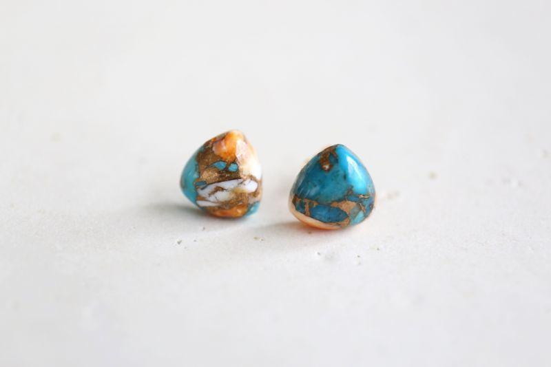 画像2: 14KGF  oystercopperturquoise pierce