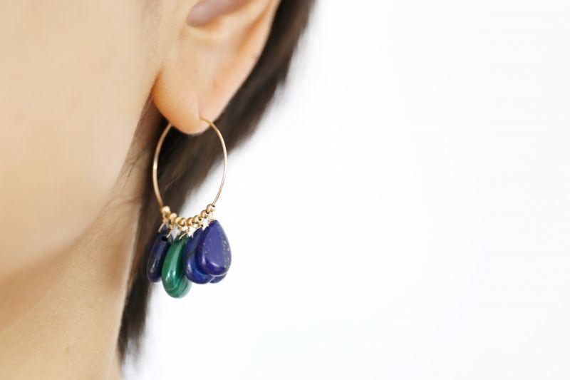 画像5: 14KGF  lapis lazuli pierce