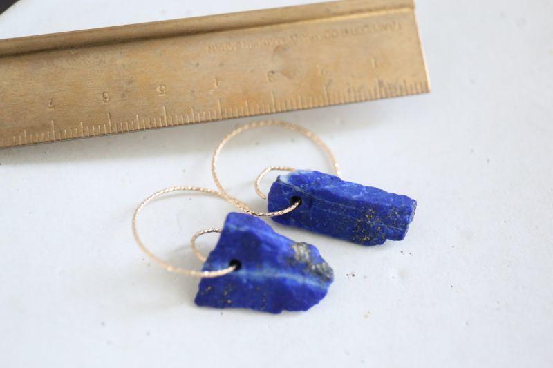 画像3: 14KGF lapis lazuli pierce