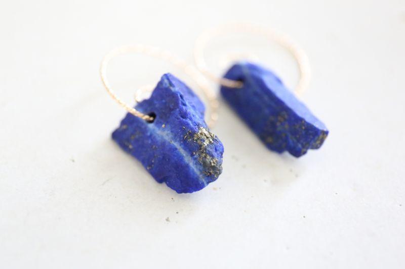 画像2: 14KGF lapis lazuli pierce