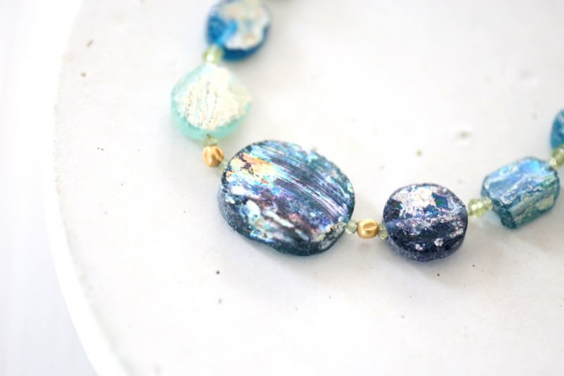 画像4: SILVER925 roman glass  necklace