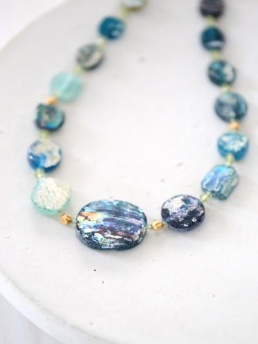 画像2: SILVER925 roman glass  necklace