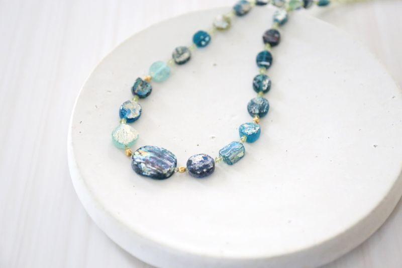 画像5: SILVER925 roman glass  necklace