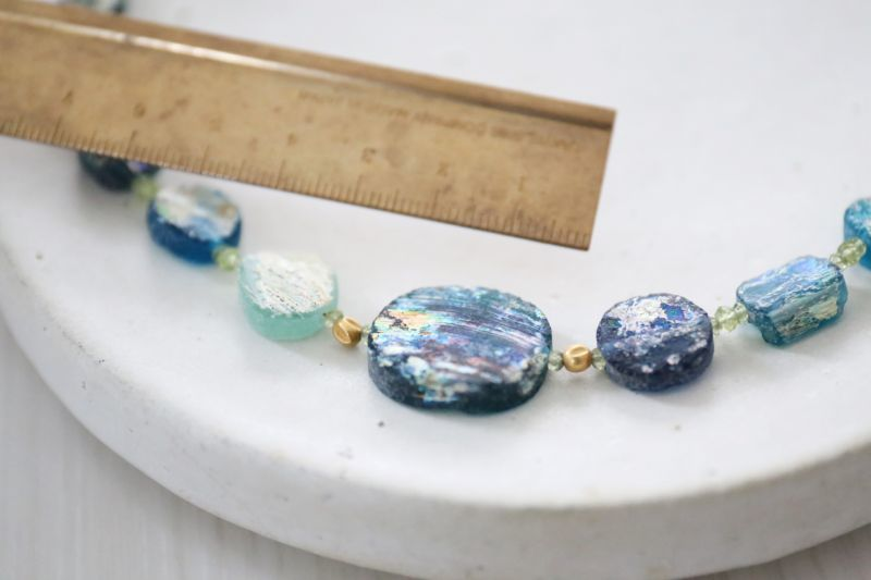 画像3: SILVER925 roman glass  necklace