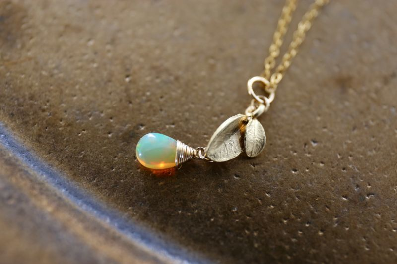 画像2: 14KGF opal necklace