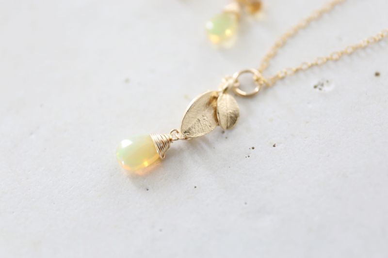 画像4: 14KGF opal necklace
