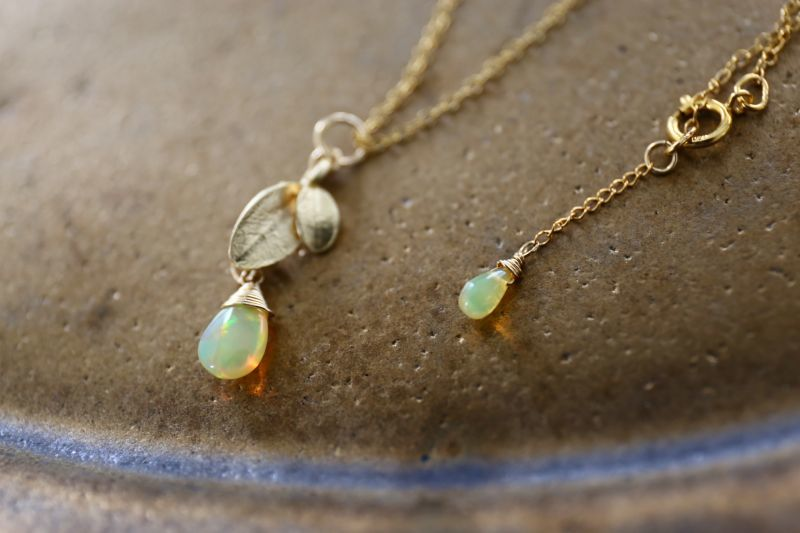 画像3: 14KGF opal necklace