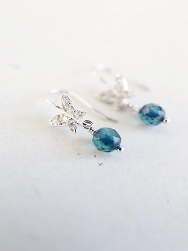 画像1: SILVER925 sapphire pierce