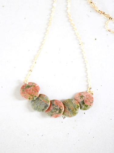 画像1: 14KGF unakite necklace