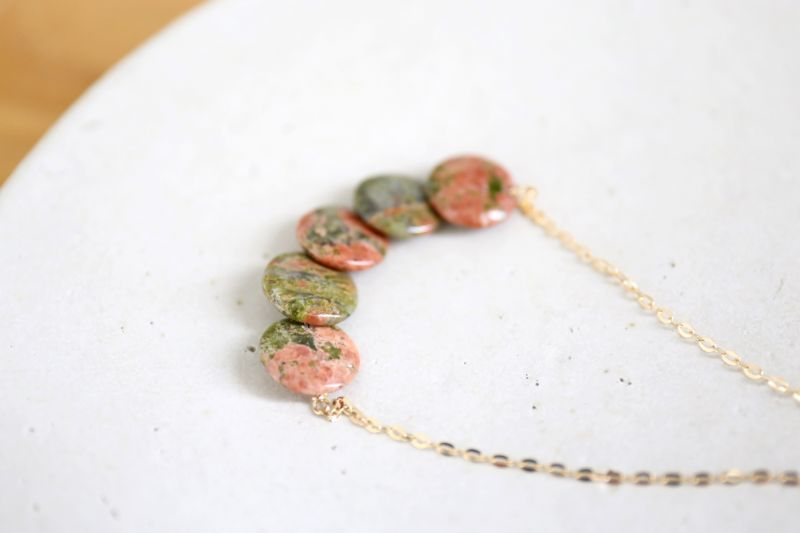 画像3: 14KGF unakite necklace