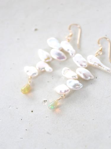 画像1: 14KGF  opal pearl  pierce