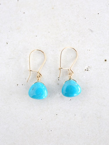 画像1: 14KGF turquoise pierce