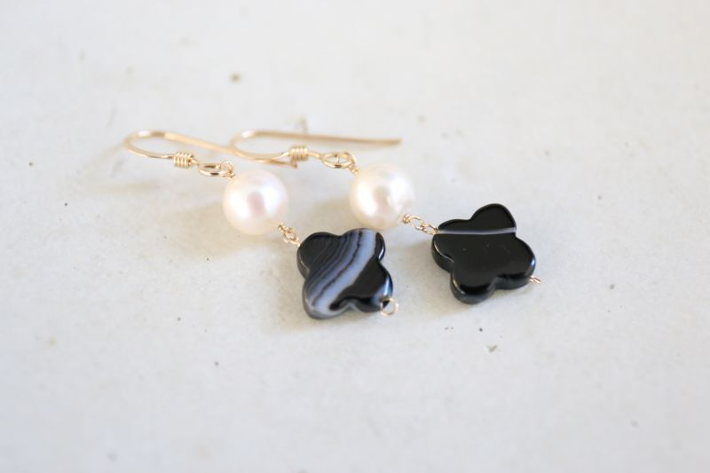 画像4: 14KGF  blackonyx pearl pierce