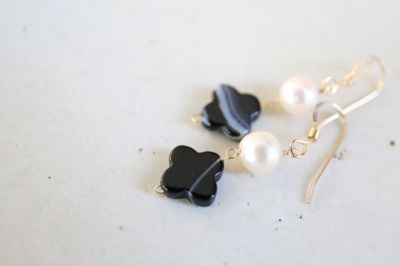 画像3: 14KGF  blackonyx pearl pierce