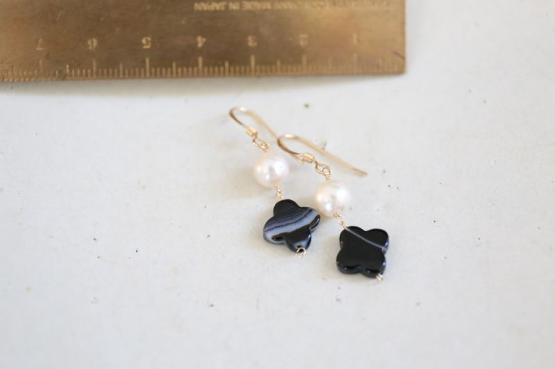 画像2: 14KGF  blackonyx pearl pierce