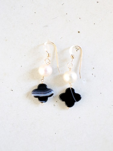 画像1: 14KGF  blackonyx pearl pierce