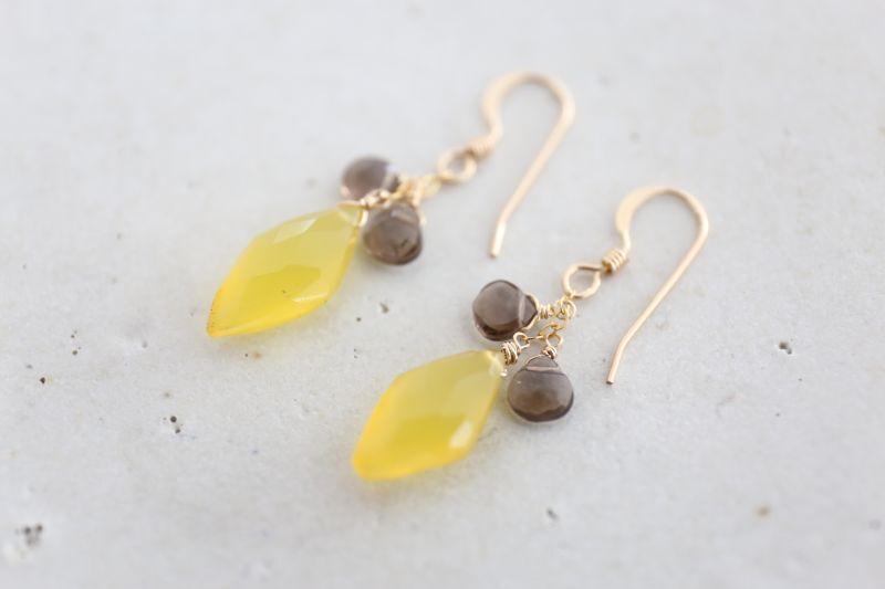 画像3: 14KGF yellow smoky quartz pierce