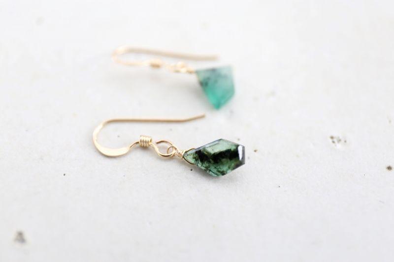 画像3: 14KGF  Ssize emerald pierce