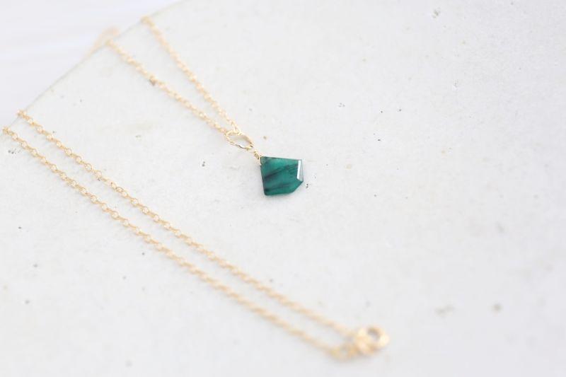画像5: 14KGF Lsize emerald necklace